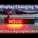 Arduino Display Changing Text on MAX7219 8-digit LED Display Using Sequence