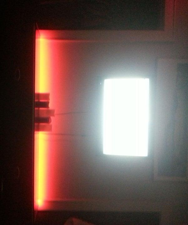 Red L.E.D. Strip Bedroom Lighting