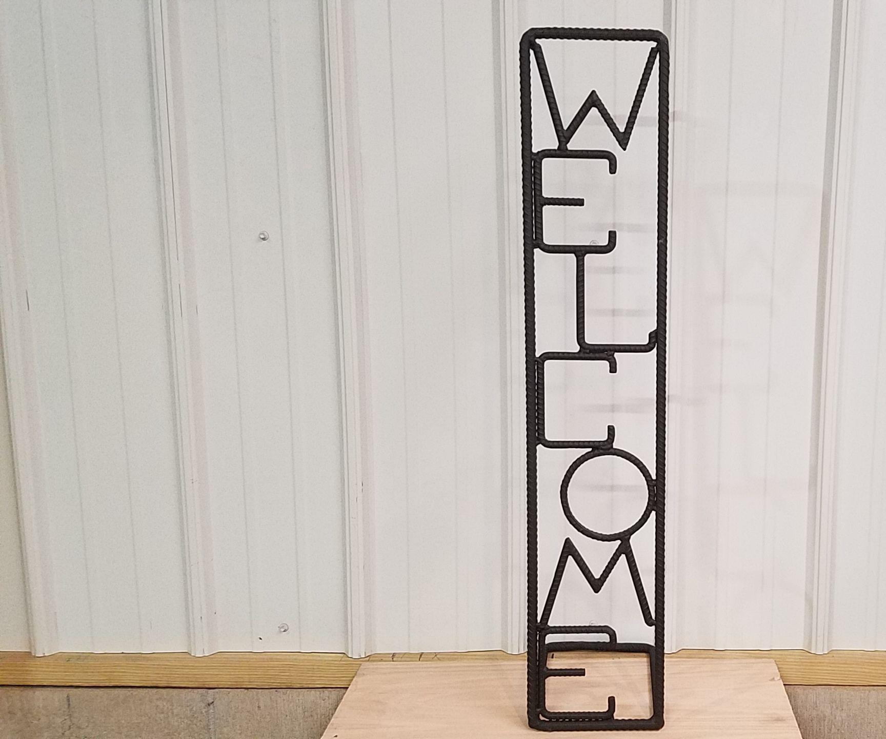 Rebar Welcome Sign