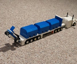 Lego Semi, Trailer, Forklift, and Crates