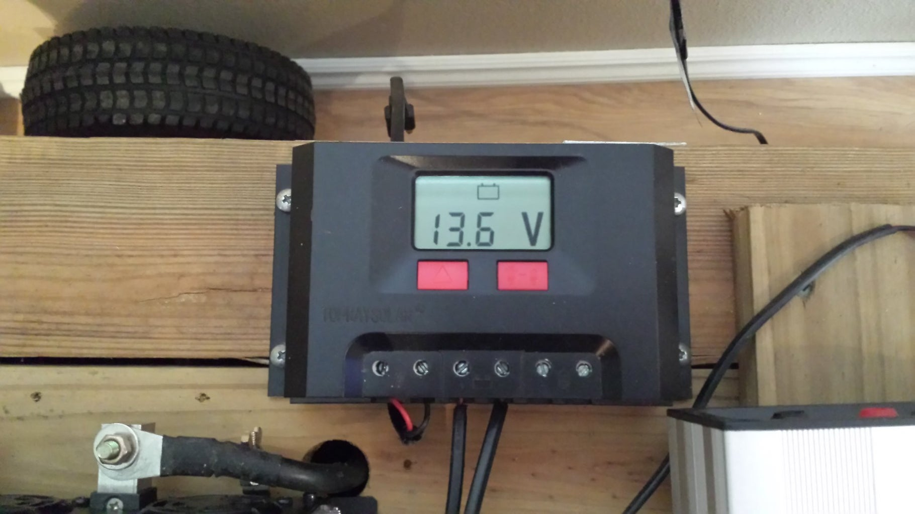 Connecting the Solar Charge Controller