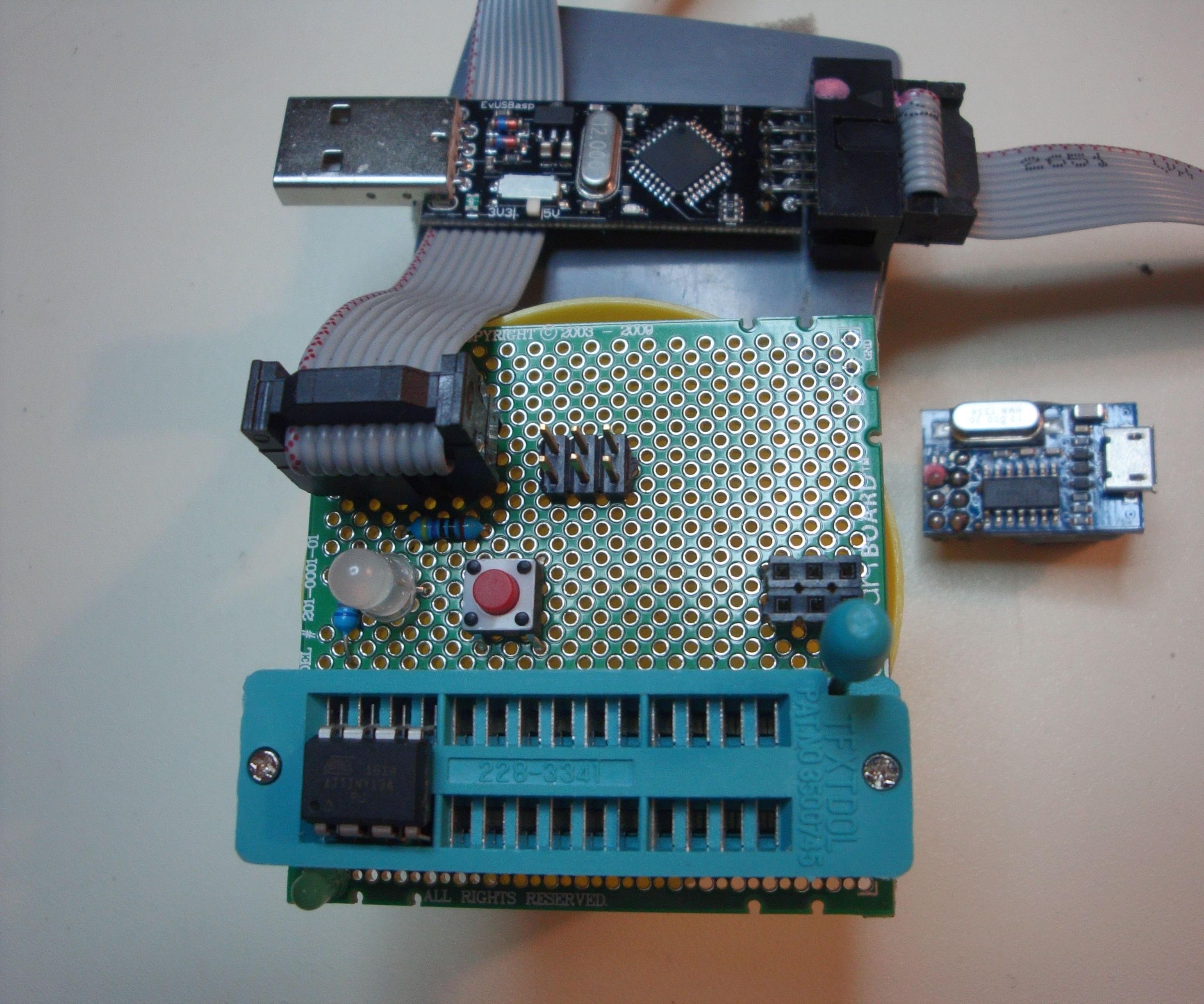 ZIF Jig for AVR ATtiny chip programming