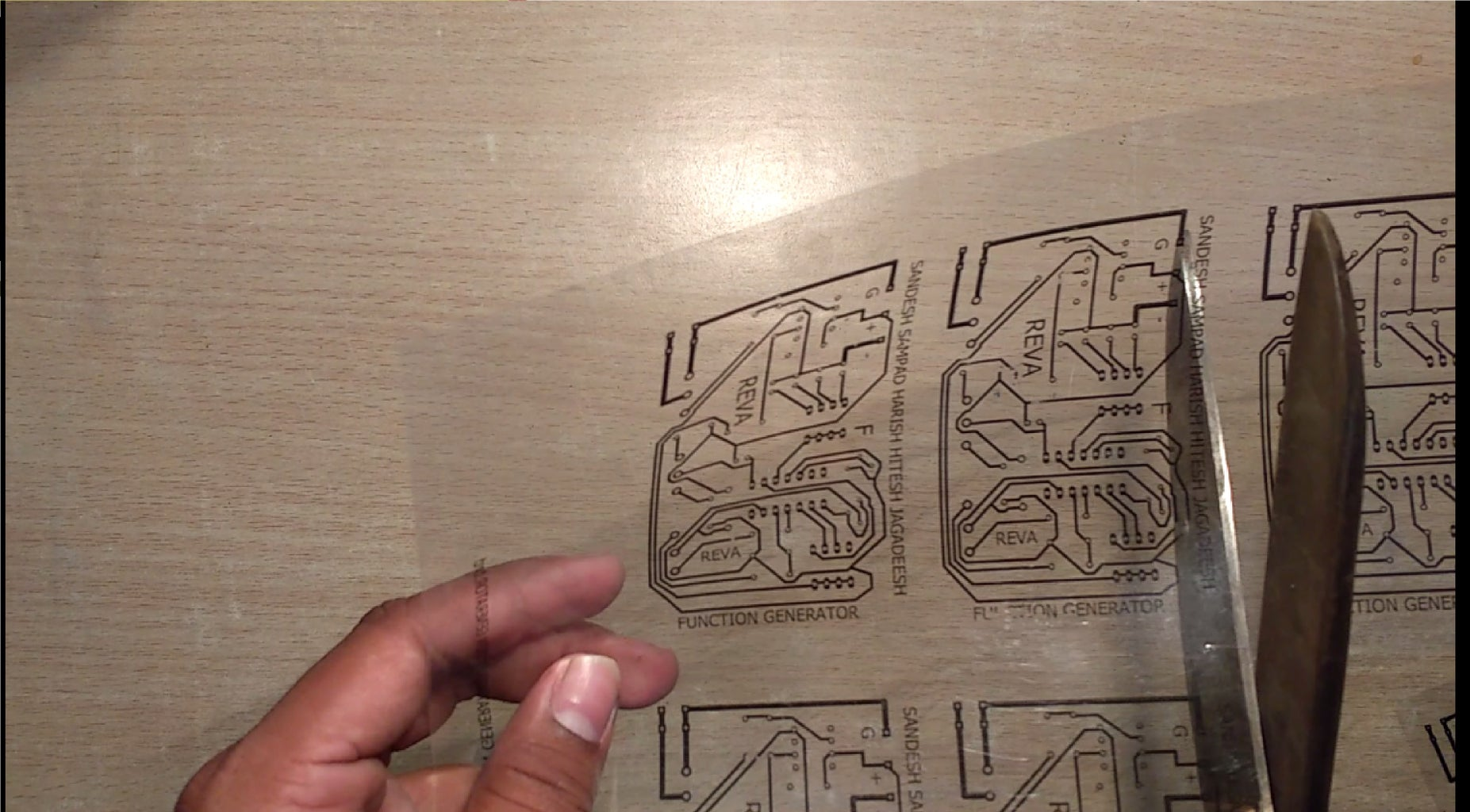 Printing the Circuit Design on OHP Sheet
