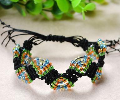 How to Make Adjustable Macramé Beaded Bracelets With Nylon Thread