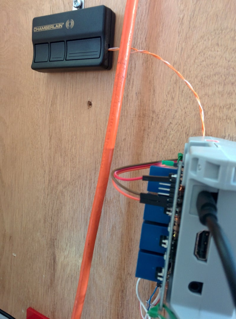 Final Result: Garage Control/monitor
