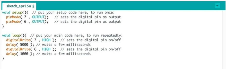 第三步:編寫ArduBlock與程式碼