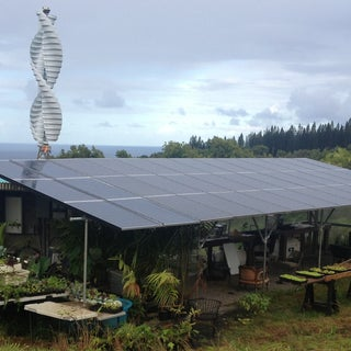 Solar Carport, Battery Inverter, EV Charger, Water Catchment, Aquaponic Wall