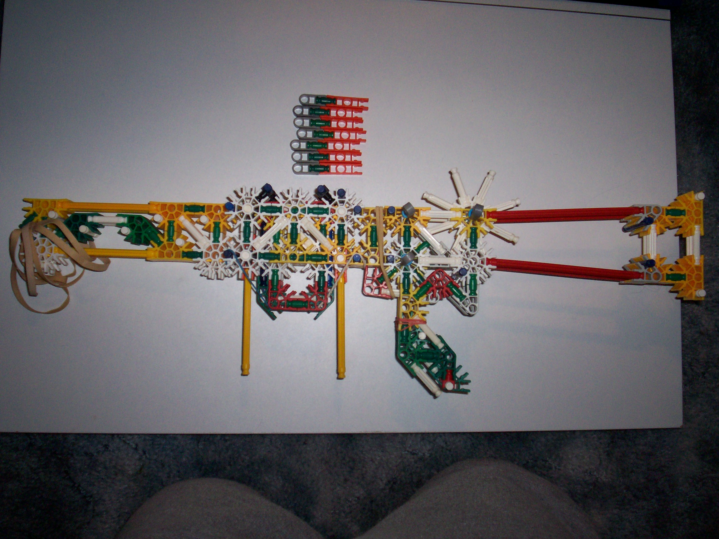 Semi-automatic 7 Shot Knex Rifle