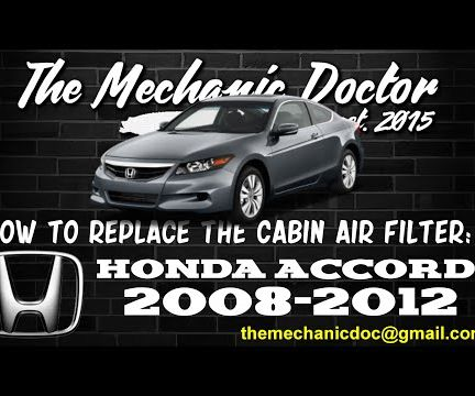 How to Replace the Cabin Air Filter : Honda Accord 2008-2012.