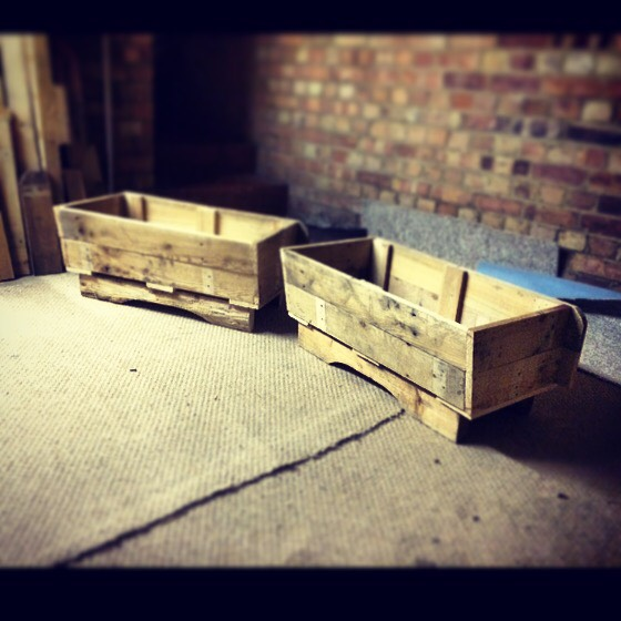 Two Pallets Herb Trough