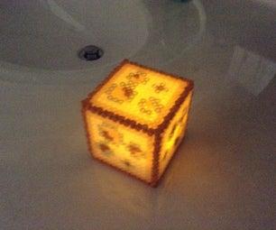 Minecraft Glowstone Perler Block