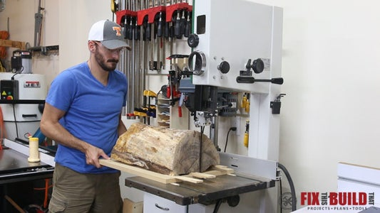 Cut the Log Using a Sled or Handsaw