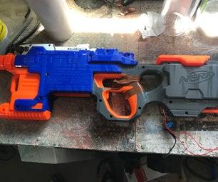 简单的Arduino autofire nerf gun