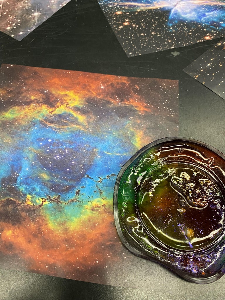 The Nebula Projector Project for Kids!  Glue and Ink!
