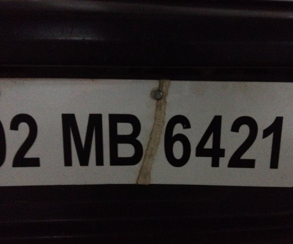 Fixed Acrylic Number Plates