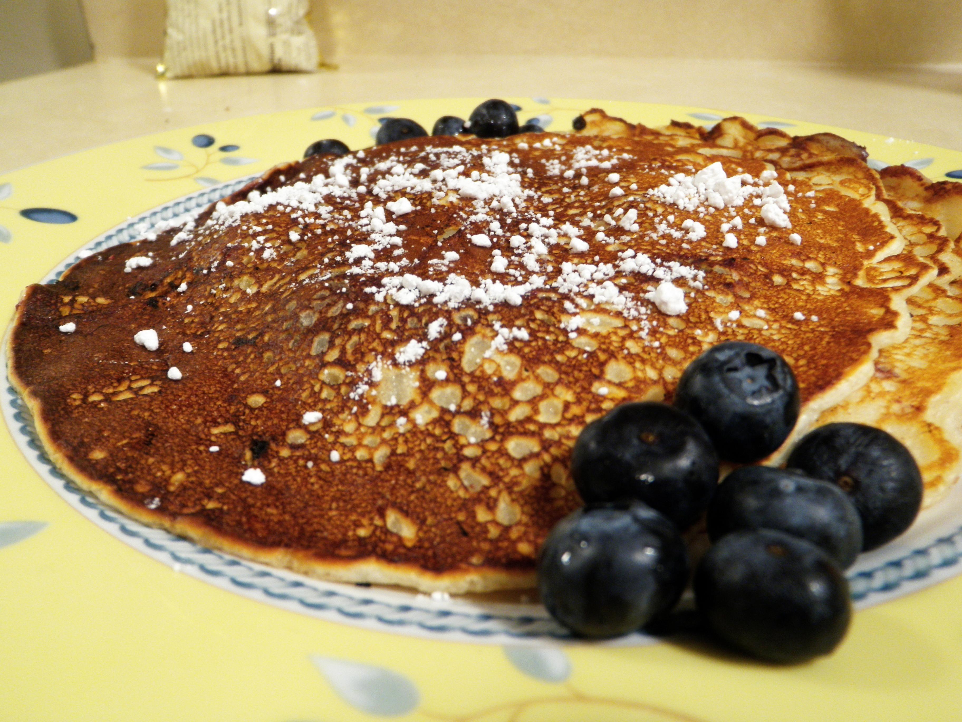 Blueberry Chocolate Chip Pancakes