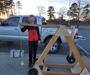 Simple Machine - Tennis Ball Catapult