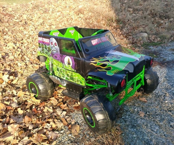 Speed Upgrade on the New Grave Digger Power Wheels Ride-on Toy