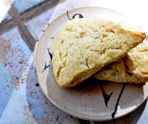 Lemon Ginger Cream Scones