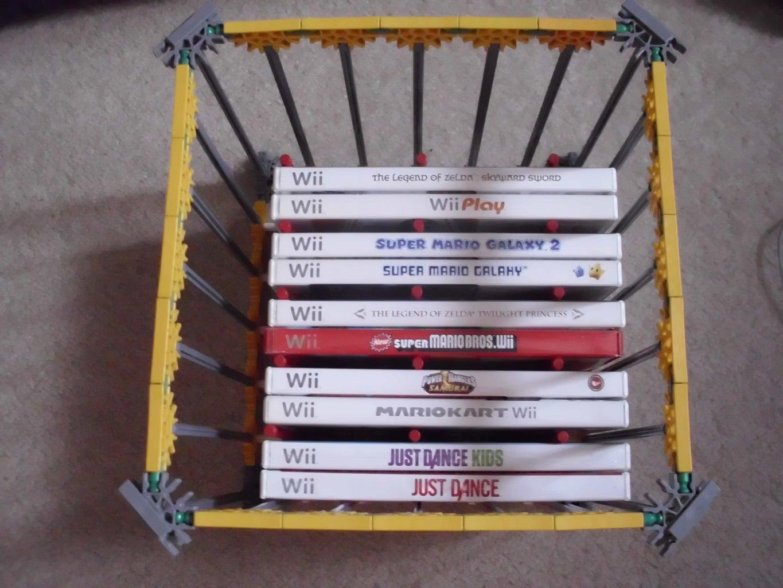 Knex DVD/Wii Disk Holder