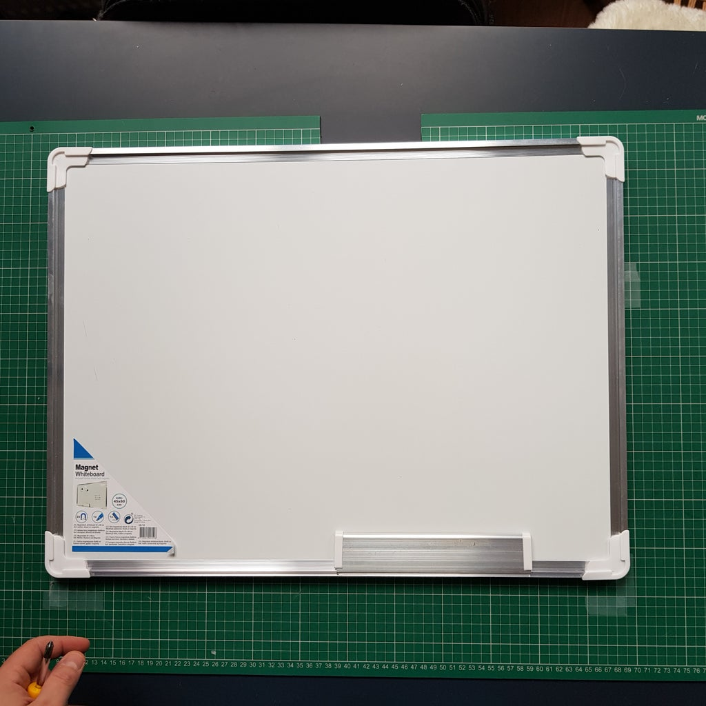 Remove the Sides From the Magnetic Board