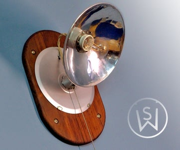 Turning Old Space Heater Into Wall Lamp (Kind of Restoration Project)