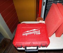 Custom Padded Tool Box From a Discarded Milwaukee Plastic Tool Box