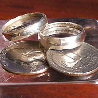 25 Cent Silver Ring