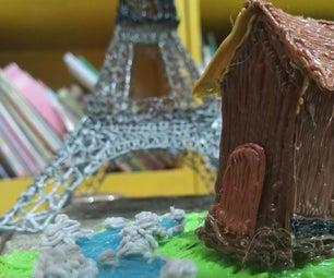 3D笔:水泥街区上的小镇