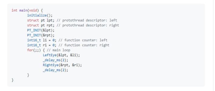 Programing. Main Loop