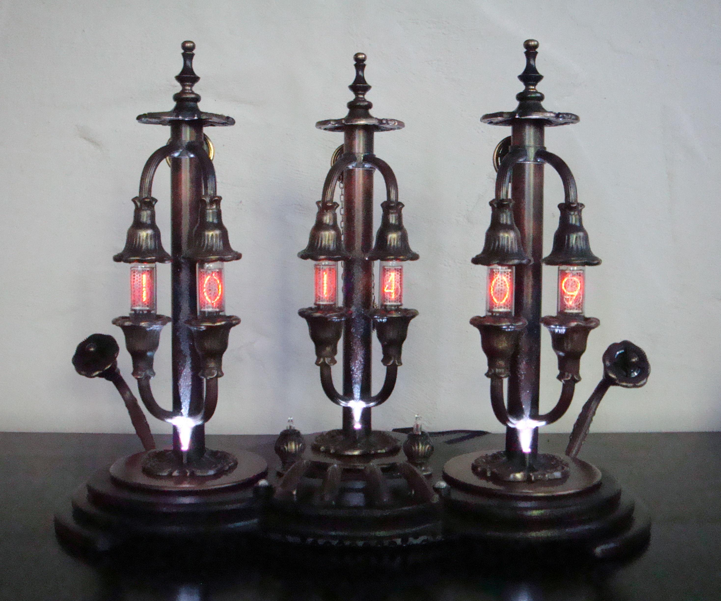 The Pillars of Time - A Steampunk Nixie Clock