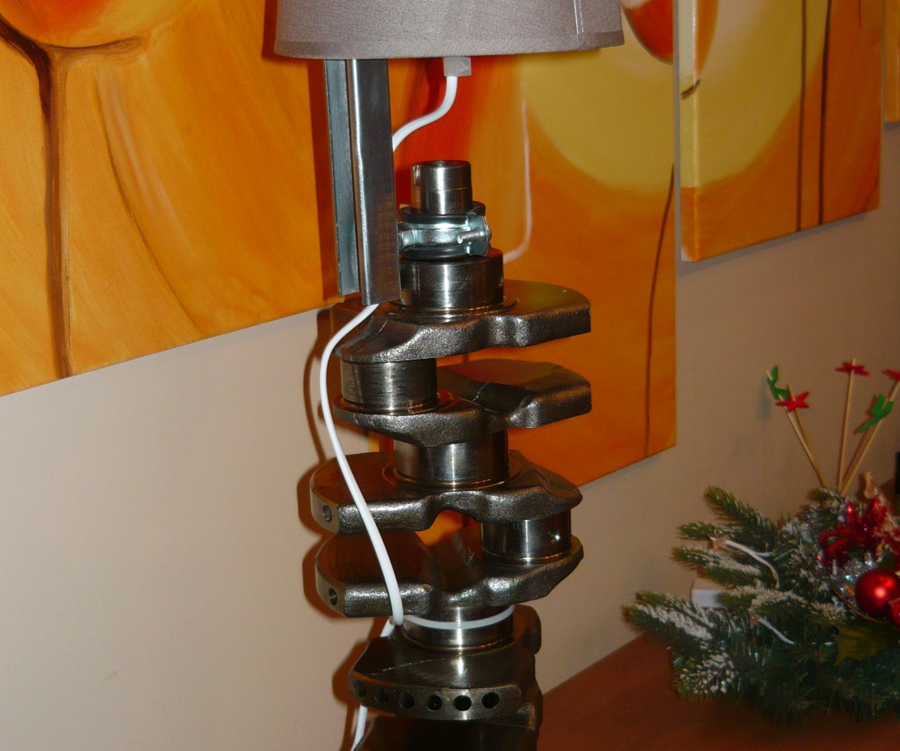 Lancia Lybra crankshaft table lamp
