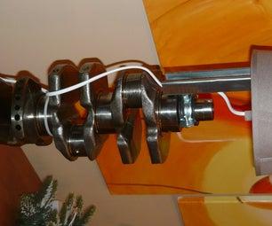 Lancia Lybra Engine Crankshaft Table Lamp DIY