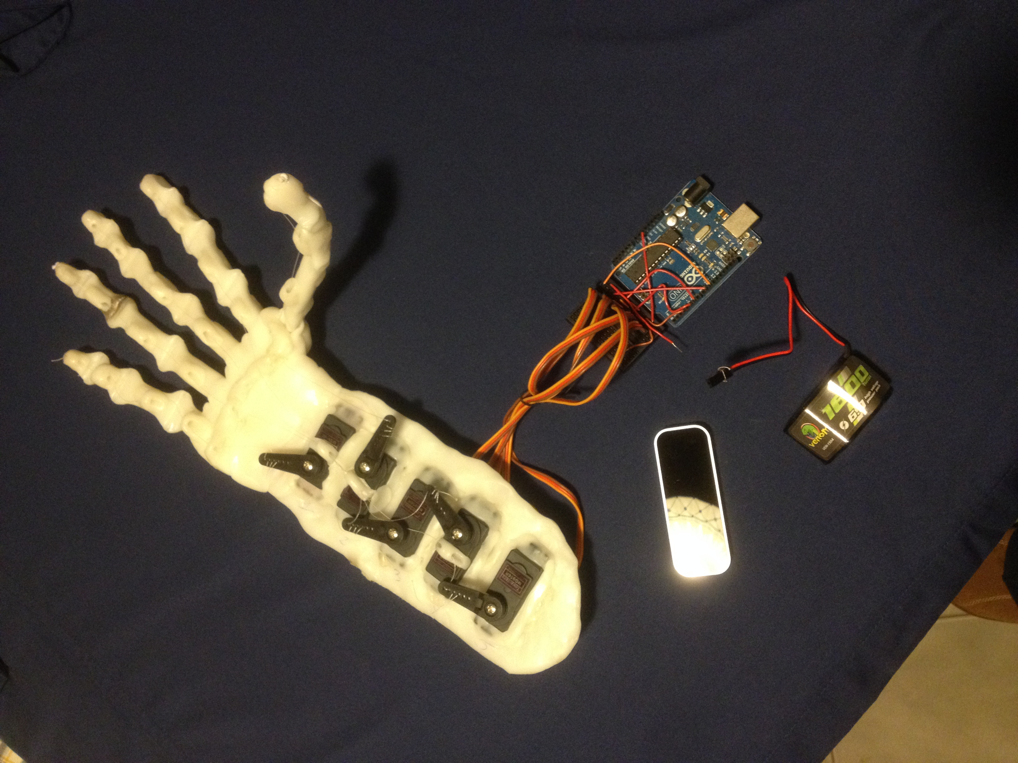 Robotic Hand controlled by Gesture with Arduino + Leap Motion