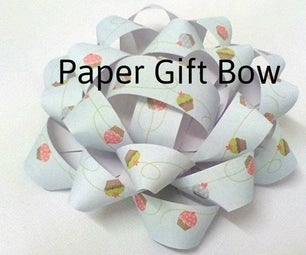 Simple Paper Gift Bow