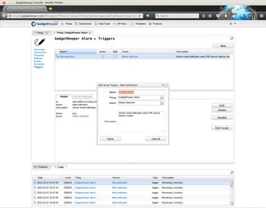Configure GadgetKeeper