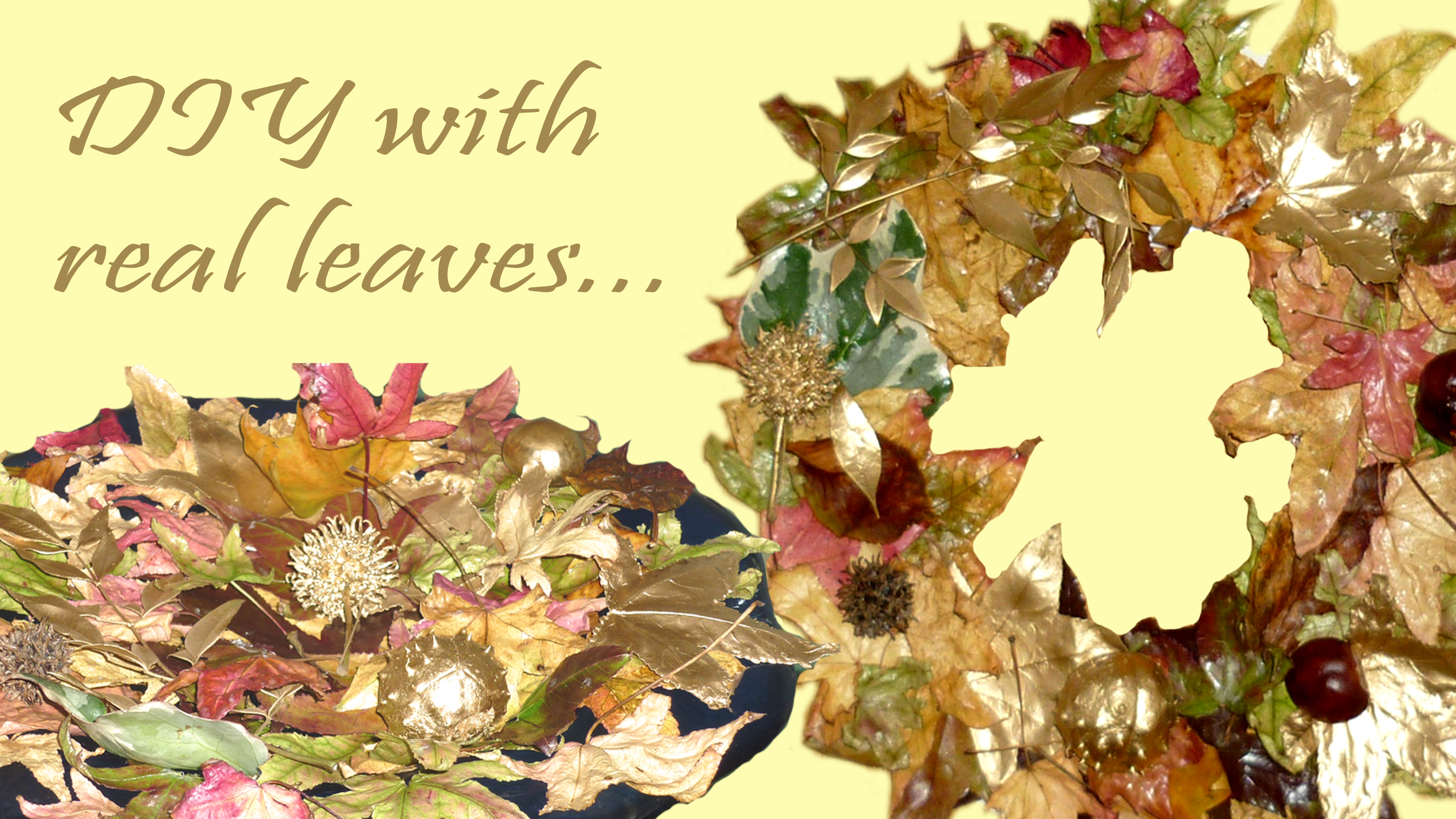 How to use real leaves for the fall season +decorating ideas!!