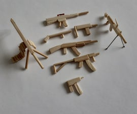 Small Wooden Guns (using Ample Adhesive)