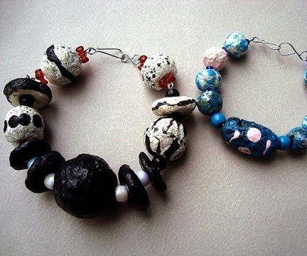 Round Papier Mache Paper Beads