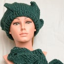 Easy knitted leg warmers, wrist warmers and cap