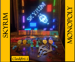 DIY Skyrim Monopoly Board With Arduino LED Lights