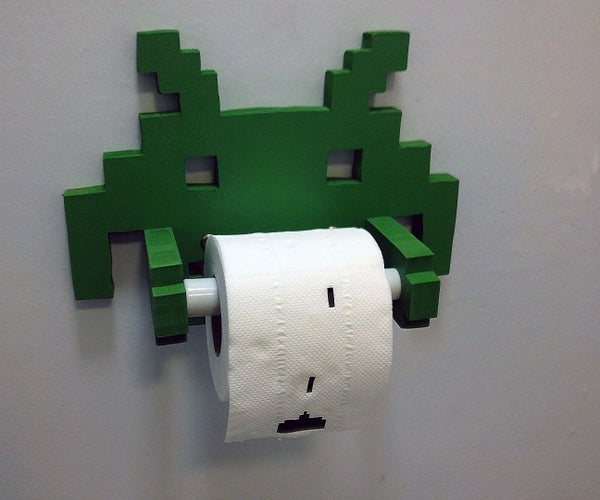 Making a Space Invaders Toilet Roll Holder