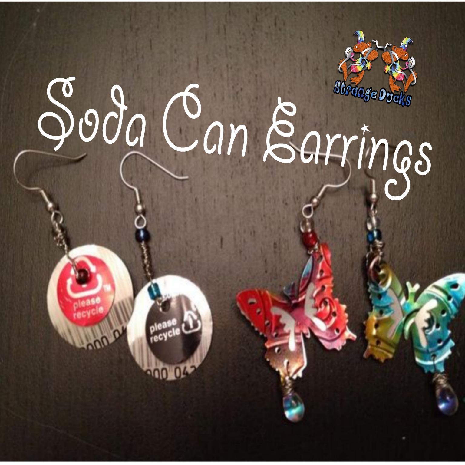 Soda Can earrings