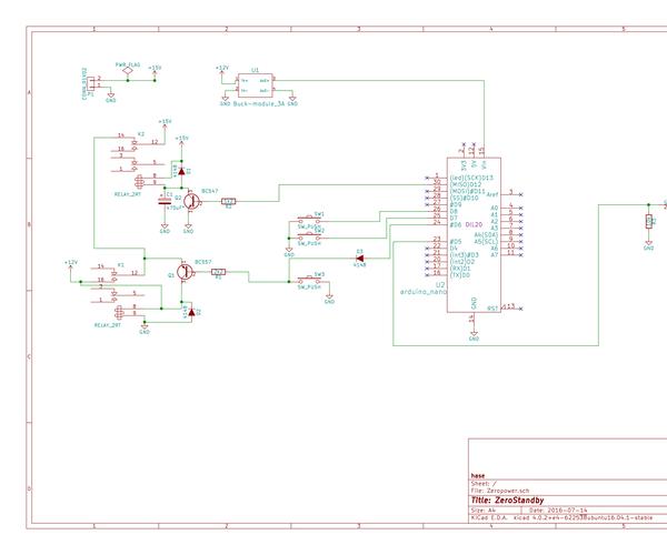 Arduino Device With Zero Standby Power
