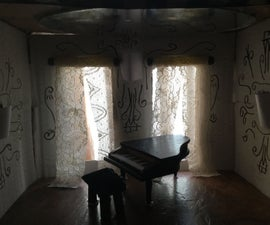 Mini Grand Hall With Piano Diorama