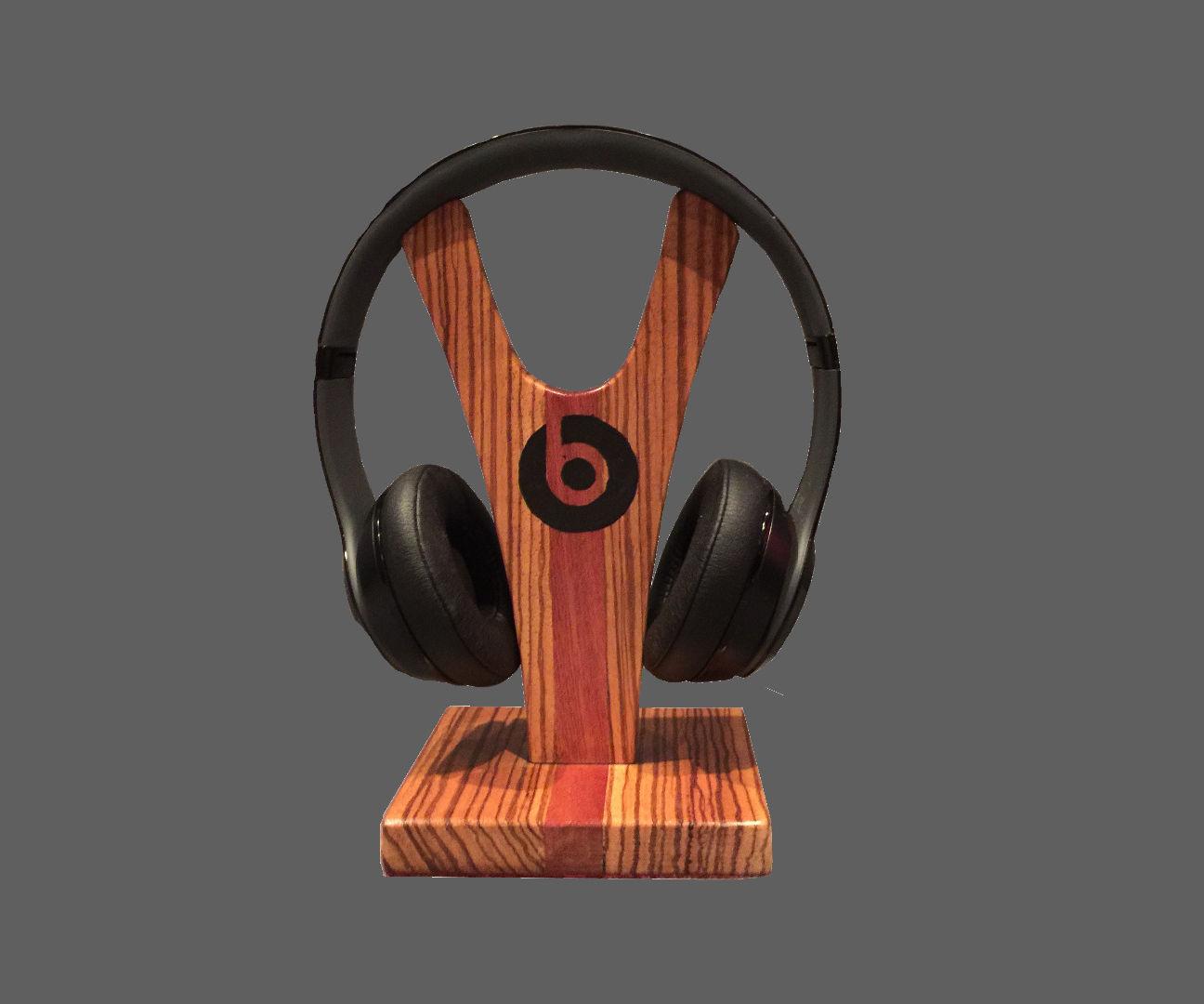 Wooden Headphone Stand For My Beats Headphones
