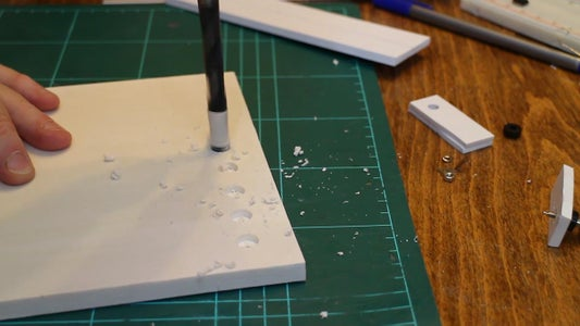 Drilling the Holes for the Binding Posts