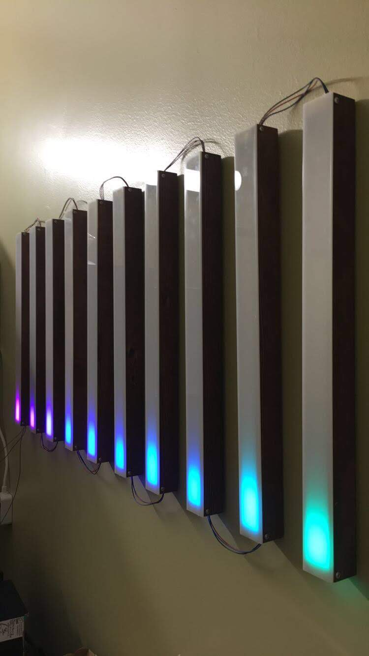 Retro LED Strip Audio Visualizer