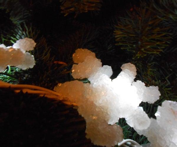 LED Lit Crystal Decorations
