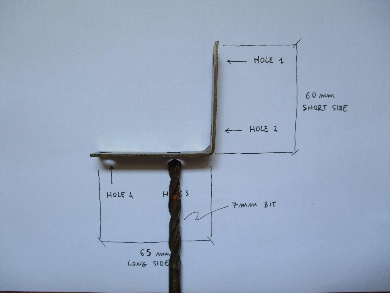 Enlarge L Bracket Hole